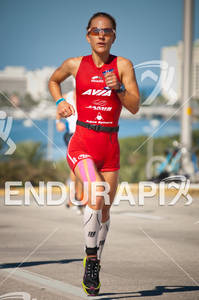 Leslie Paterson in the run portion of the 2010 Foster Grant Ironman World Championship 70.3 in Clearwater,FL.