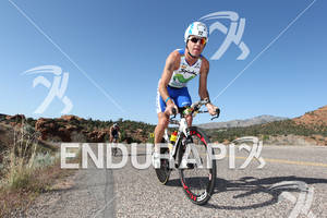 Alejandro Santamaria (ESP) on bike at the 2011 Ford Ironman, St. George Utah