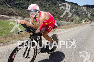 TJ Tollakson (USA) on bike at the 2011 Ford Ironman, St. George Utah