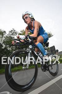 Yvonne van Vlerken (NED) on the bike at the Sparkassen Finanzgruppe IRONMAN 70.3 European Championship in Wiesbaden, Germany August 14, 2011