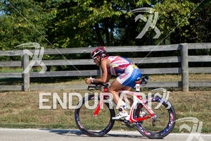 Marilyn McDonald on bike at the 2011 Ford Ironman Louisville