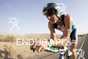 Chris Legh rides during Ironman 70.3 World Championships