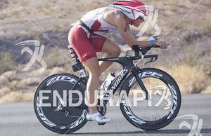 Tenile Hoogland rides during the Ironman 70.3 World Championships
