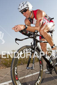 Craig Alexander (AUS) on bike. Ironman World Championship 70.3 in Las Vegas, NV. September 11, 2011