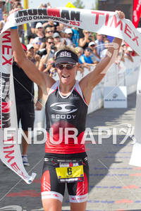 Melissa Rollison (AUS) wins the Ironman World Championship 70.3 in Las Vegas, NV. September 11, 2011