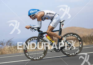 Andreas Raelert (DEU) rides on the Queen K Highway during the 2011 Ford Ironman Championships