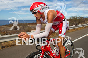 Rasmus Henning (DEN) on bike at the 2011 Ford Ironman World Championship