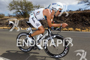 Eneko Llanos (ESP) on bike at the 2011 Ford Ironman World Championship