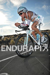 Julie Dibens in the bike portion of the 2011 Ford Ironman World Championship in Kailua-Kona. HI, October 8 2011