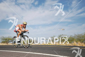 Craig Alexander competing in the bike portion of the 2011 Ford Ironman World Championship in Kailua-Kona. HI