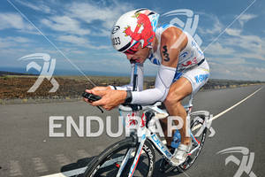 Dirk Bockel in the bike portion of the 2011 Ford Ironman World Championship in Kailua-Kona. HI, October 8 2011