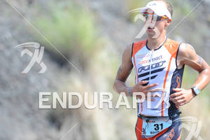 Andi Boecherer competing in the run portion of the 2011 Ford Ironman World Championship in Kailua-Kona. HI