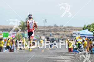 Craig Alexander competing in the run portion of the 2011 Ford Ironman World Championship in Kailua-Kona. HI
