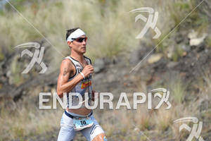Andreas Raelert competing in the run portion of the 2011 Ford Ironman World Championship in Kailua-Kona. HI