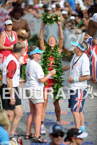 Chrissie Wellington wins the 2011 Ford Ironman World Championship in Kailua-Kona, HI, October 8 2011
