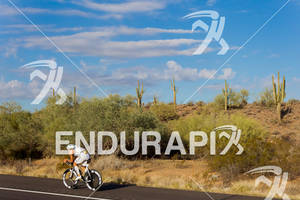 Eneko Llanos (SPA) on bike at the 2011 Ford Ironman Arizona