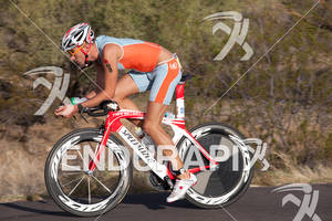 Flo Kriegl (AU) on bike at the 2011 Ford Ironman Arizona
