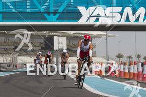 Rasmus Henning at the 2012 Abu Dhabi International Triathlon on the Yas Marina F1 Track