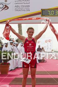 Nikki Butterfield wins the 2012 Abu Dhabi International Triathlon, c