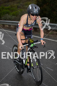 Heather Jackson on bike at the  Ironman 70.3 California on March 31, 2012  in Oceanside, CA