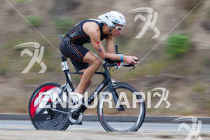 Erich Wegscheider on bike at the  Ironman 70.3 California on March 31, 2012  in Oceanside, CA