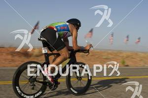 Chris McDonald competing in the bike portion of the Ironman St. George in St. George, Utah May 5, 2012.