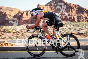 Matthew Sheeks on bike at the  Ironman St. George on May 5, 2012 in St. George, UT