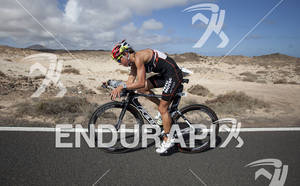Nicole Woysch  on the Bike portion of the 2012 Ironman Lanzarote May 19, 2012 in Canary Islands,Spain