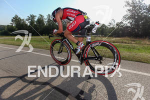 Scott Defilippis on bike at the Ironman Texas on May 19, 2012 in The Woodlands, TX