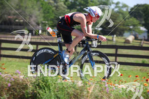 Joe Umphenour on his Blue bike at the Ironman Texas on May 19, 2012 in The Woodlands, TX