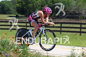 Cait Snow on bike at the Ironman Texas on May 19, 2012 in The Woodlands, TX