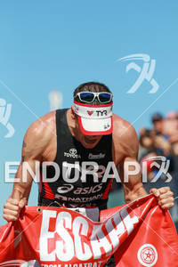 Andy Potts wins for the fifth time at the 2012 Escape from Alcatraz Triathlon on June 10, 2012 in San Francisco, CA