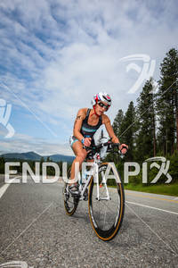 Beth Shutt on the scenic bike course at the Ironman Coeur d' Alene on June 24, 2012 in Coeur d Alene, ID
