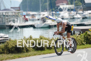 Balazs Csoke on the bike at the Ironman Austria on July 01, 2012 in Klagenfurt, Austria.