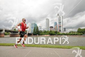 Jan Raphael on the run at the Ironman European Championship on July 08, 2012 in Frankfurt, Germany