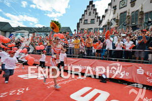 Caroline Steffen at the finish of the Ironman European Championship on July 08, 2012 in Frankfurt, Germany