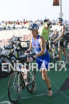 Nicole Leder heads out on to the bike course in…