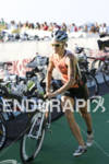 Linsey Corbin heading out on to the bike course in…