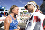 Jodie Swallow and Leanda Cave GBR at the Finish line…