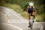 Linsey Corbin riding at the Rohto Ironman 70.3 California in…
