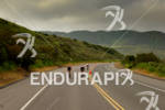 Athletes race down road in Camp Pendleton the Rohto Ironman…