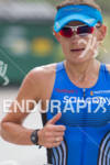 Kate Major running at the Rohto Ironman 70.3 California in…