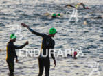 Swimmers warm up prior to the swim in the  2011…