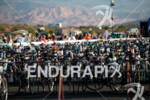 Rows of bikes in T1 at the 2011 Ford Ironman,…