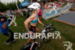 Dede Griesbauer USA exits T1 at the 2011 Memorial Herman…