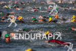 Age group athletes swim in the SF Bay at the…