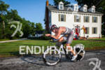 TJ Tollakson on bike at the Ironman 70.3 Eagleman on…