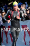 Julie Dibens exits water at the 2011 Ford Ironman Coeur…