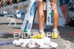 Craig Alexander's Newtons and finish line tape at the 2011…