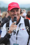 Mike Riley announcing at the 2011 Ford Ironman Lake Placid